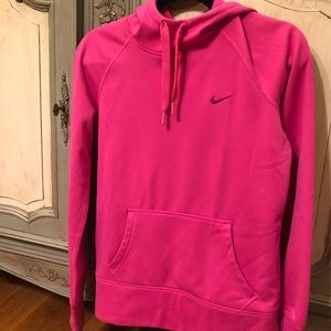 Women's SM, Hot pink Nike pullover hoodie.